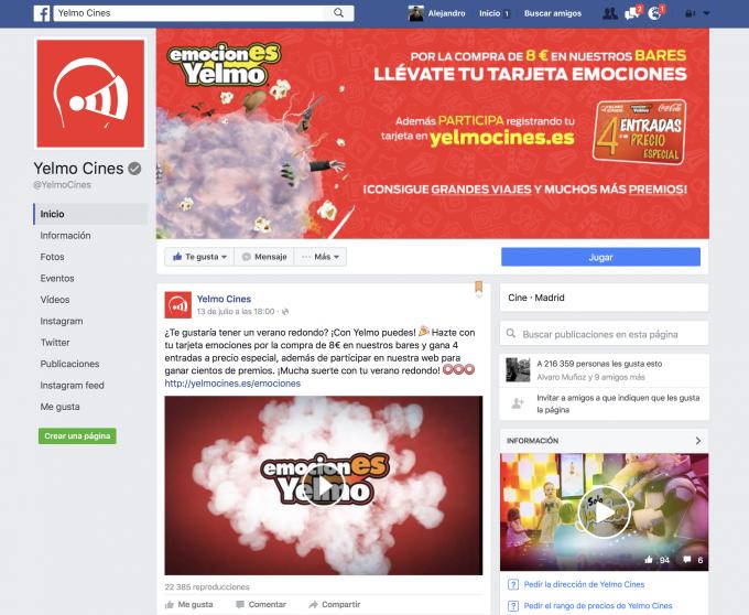 Nuevo formato pagina Facebook 2016
